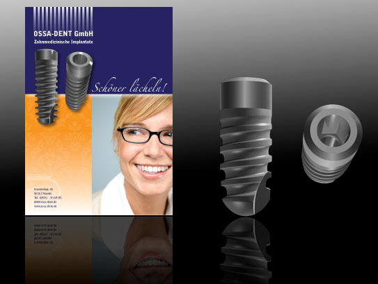 Precision 3D Dental Implants for OSSA-dent brochure.