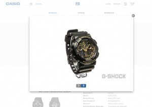 Casio G-Shock watch going for a 360º spin